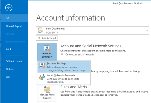 setup realnames email in microsoft outlook realnames